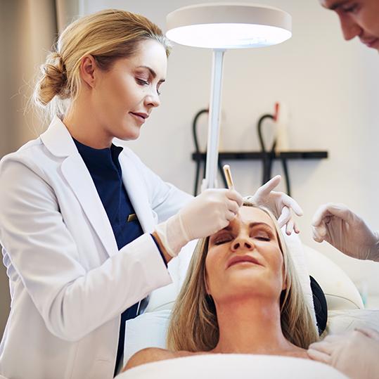 dermatologist patient treatment
